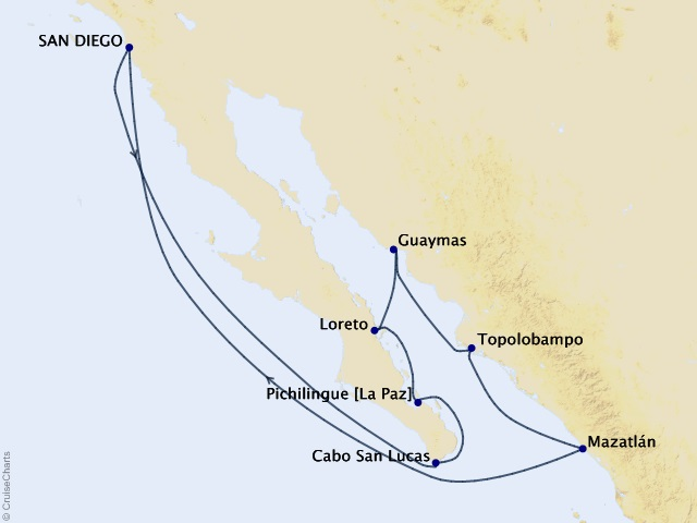 10-night Mexico and the Sea of Cortez Cruise