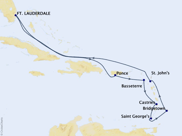 11-night Southern Caribbean Cruise