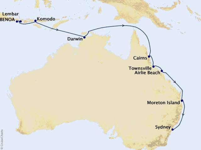 16-night Orchid Isles and the Queensland Coast Cruise