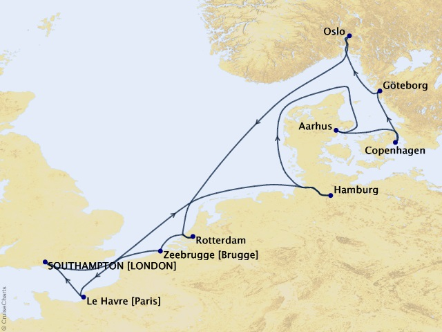 12-night European Capitals Cruise