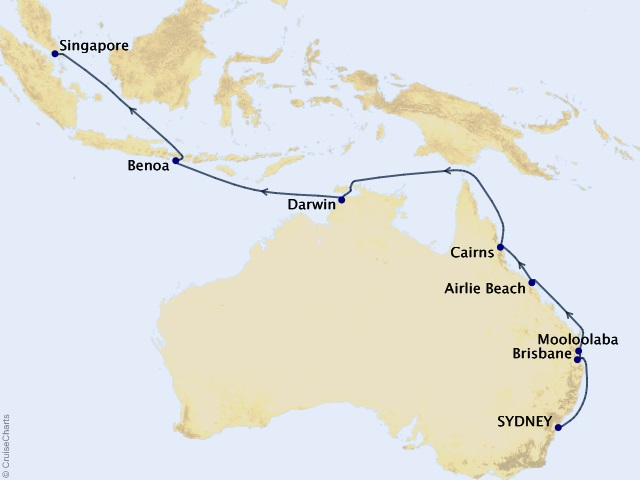 18-night Australia and Bali Voyage