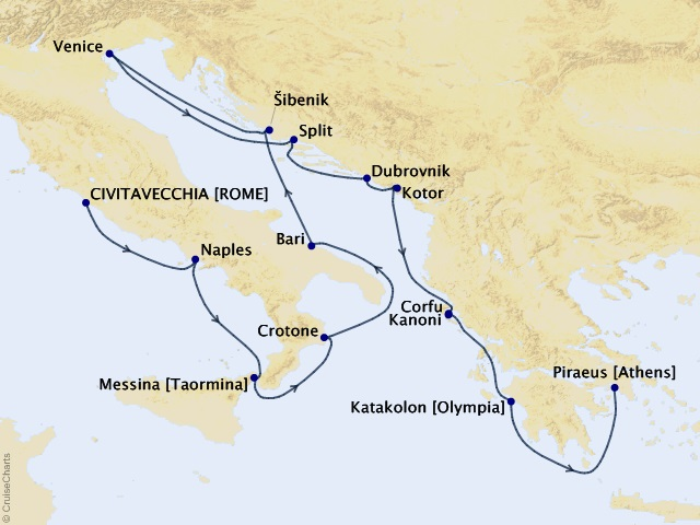 14-night Italy, the Adriatic, and Greece Cruise