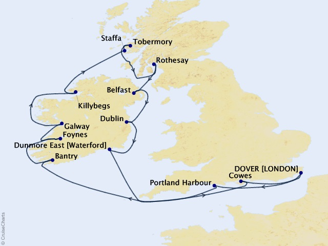 15-night Gems of the Irish Sea & Hebrides Cruise
