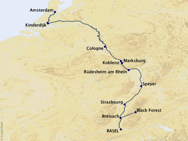 7-night Rhine Getaway Cruise