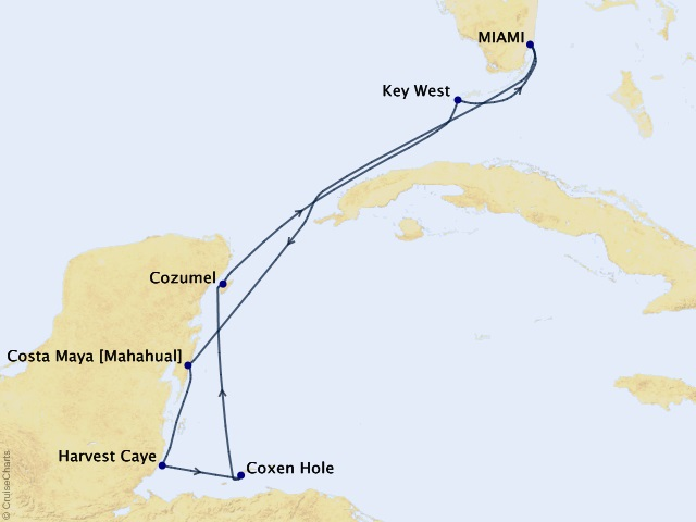 7-night Caribbean Joy Cruise