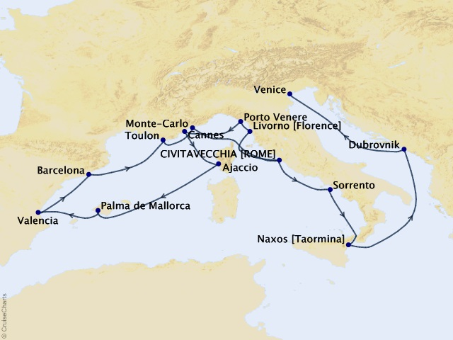 19-night Palazzos & Provence Cruise