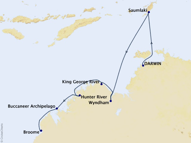 Australia & New Zealand Expedition Cruise Map