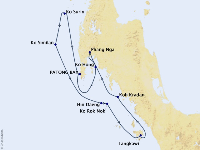Northern Thailand Cruise Map