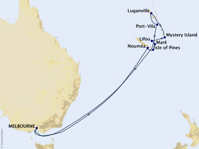 14-night South Pacific Cruise