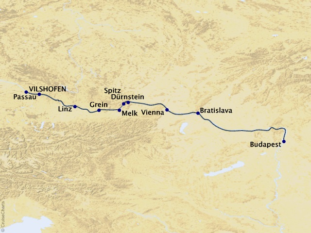 7-night Magna on the Danube Cruise Map