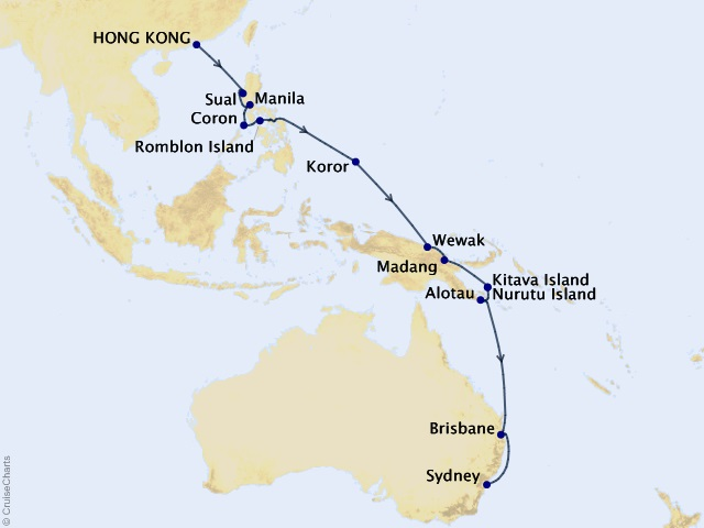 21-night Asia & Australia Cruise