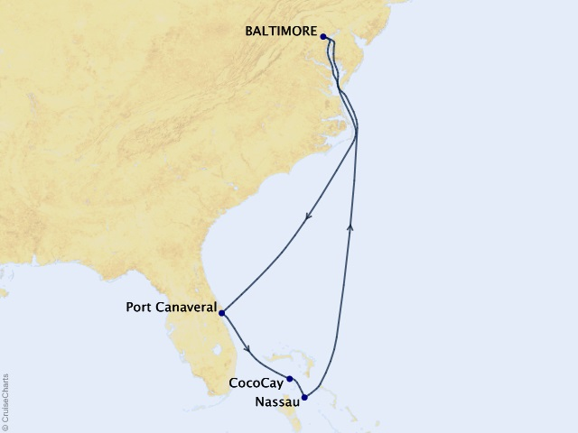 7-night Southeast Coast & Perfect Day Holiday Cruise