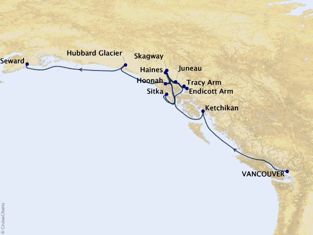 10-night Majestic Midnight Sun Cruise Map