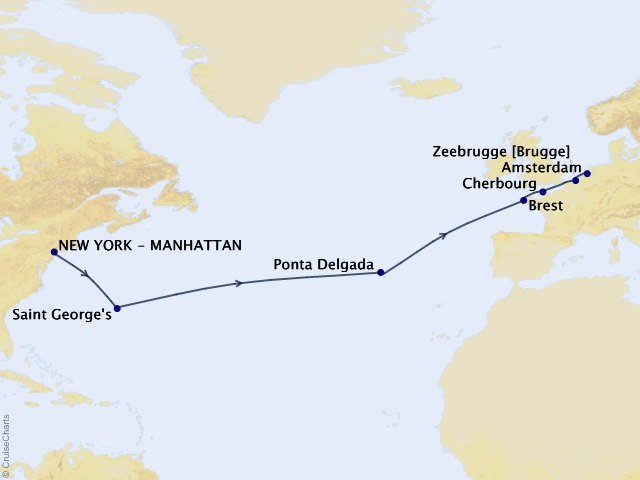 15-night Atlantic Expedition Cruise Map