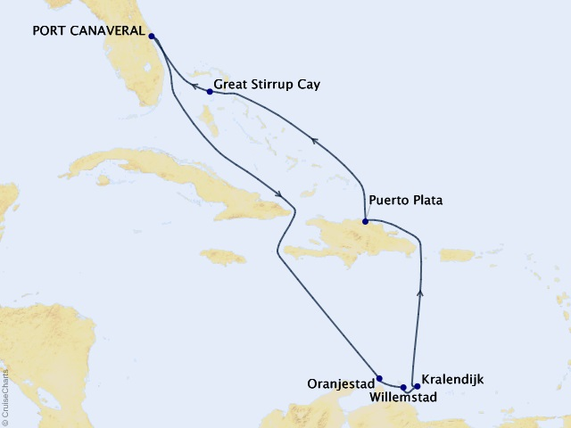 10-night Southern Caribbean from Orlando (Port Canaveral) Cruise