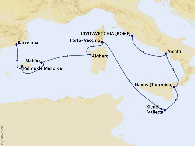 10-night Islands of the Med Voyage