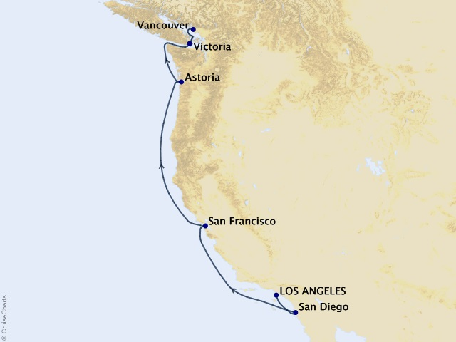 7-night Pacific Wine Country Cruise