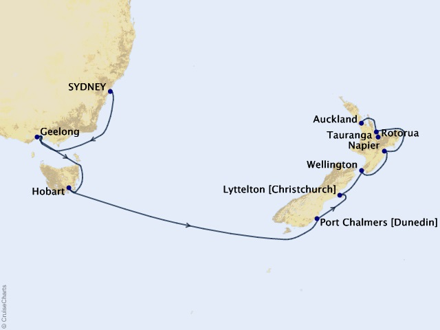 14-night Australia & New Zealand Cruise