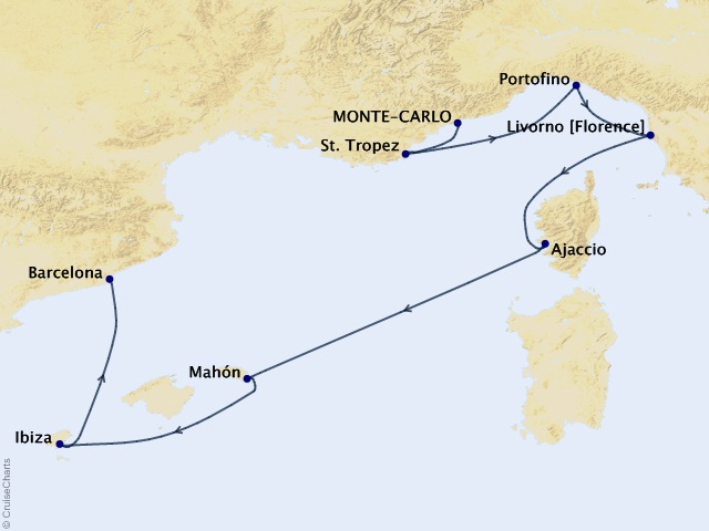 7-night Beauty of the Balearic Cruise Map