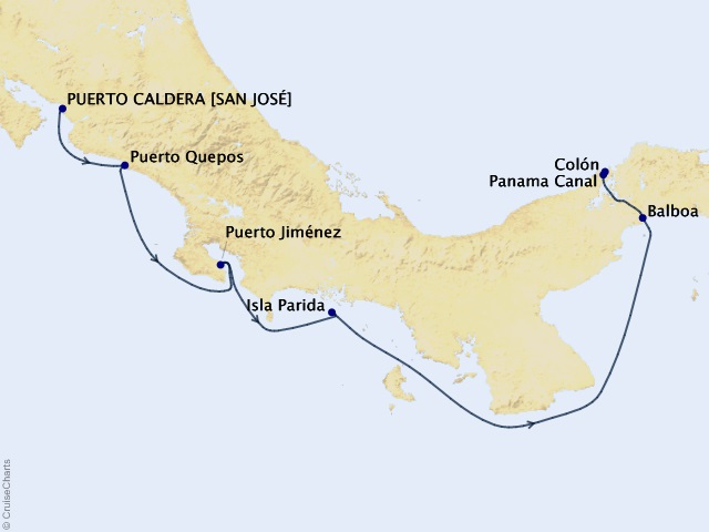 7-night Costa Rica and Panama Canal Cruise
