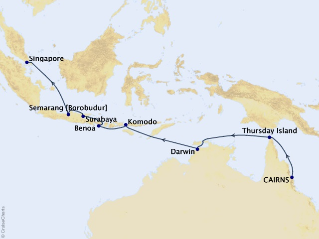 14-night Australia and Indonesia Voyage