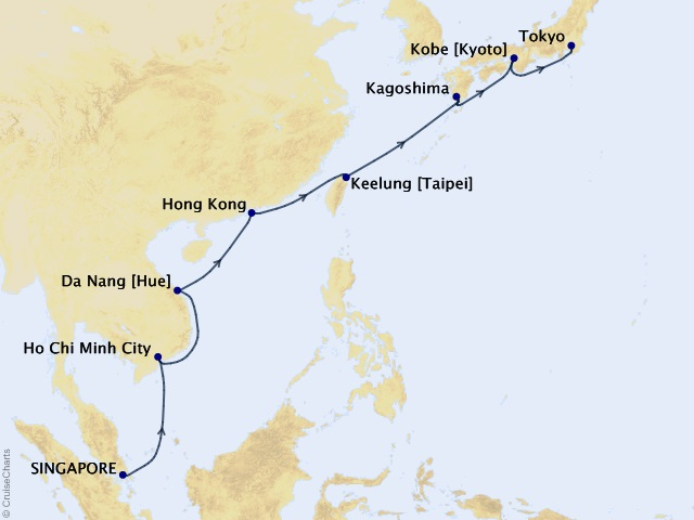 15-night Springtime in Asia Voyage