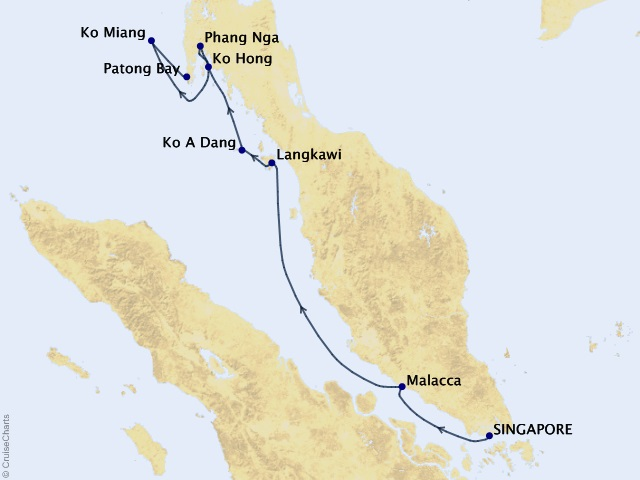 7-night New Year Cruise Map
