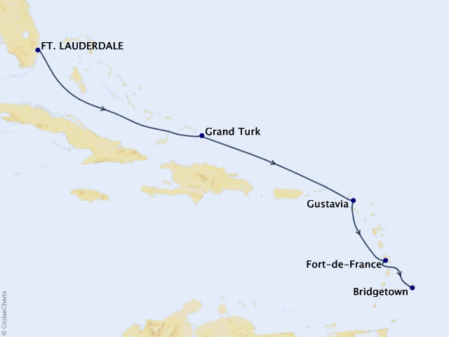 6-night Holiday Sojourn Getaway Cruise Map