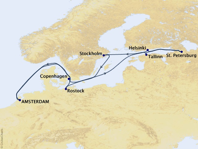 12-night Scandinavia & Russia Cruise