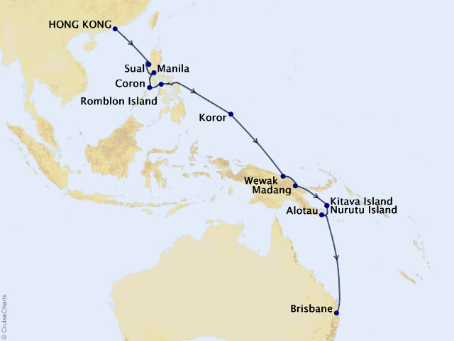 19-night Asia and Australia Cruise