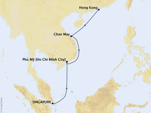 7-night Singapore to Hong Kong Cruise