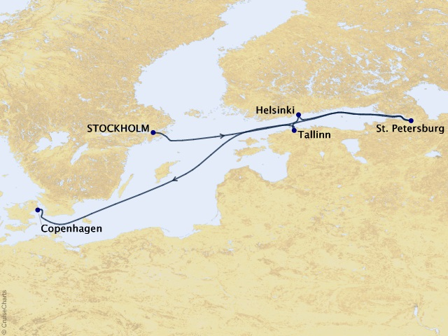 7-night Northern Europe Cruise Map