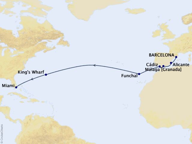 15-night The Perfect Sojourn Cruise Map
