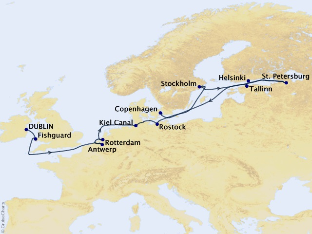 14-night Splendorous Scandinavia & the Kiel Cruise Map