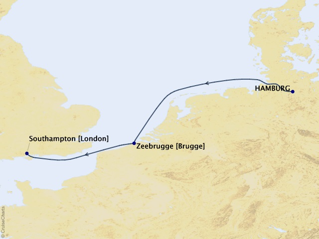 5-night Belgian Escape Cruise Map