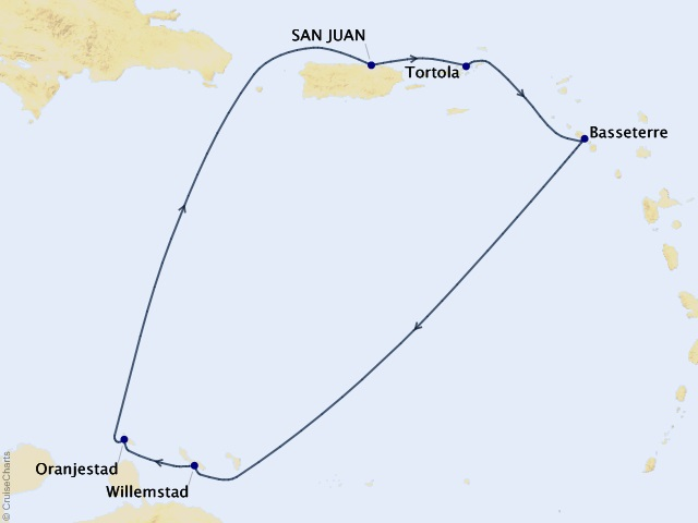7-night Southern Caribbean from San Juan Cruise