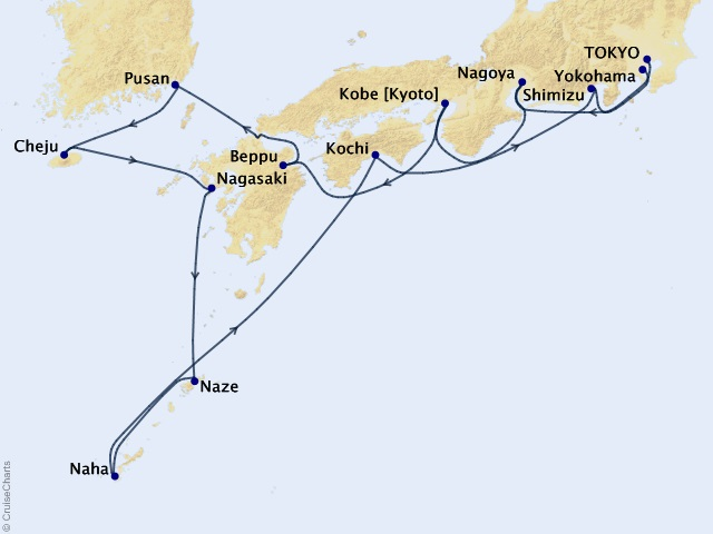 14-night Towering Mountains & Nippon Culture Cruise