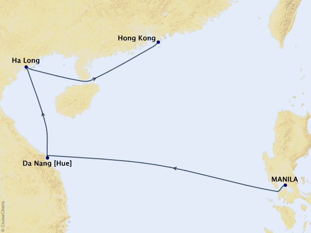 8-night Pagodas and Pearls of the Orient Getaway Cruise Map