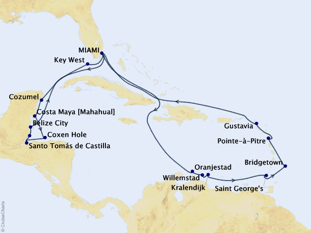22-night Trade Wind Trails Voyage Map