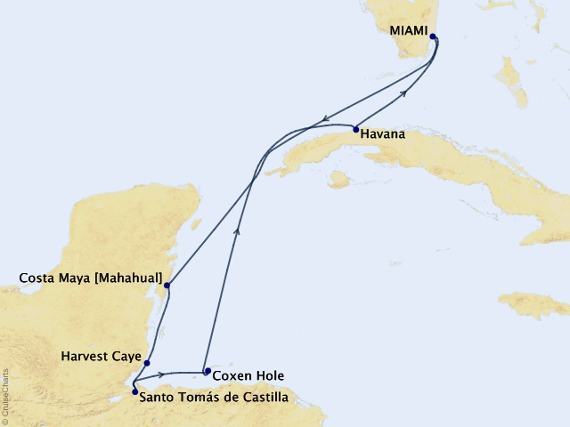8-night Private Islands & Secret Shores Cruise Map