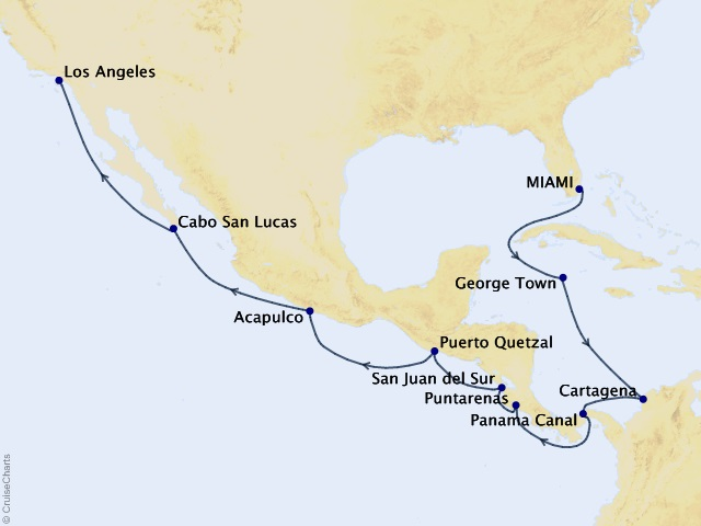 Portraits of Panama Voyage Map