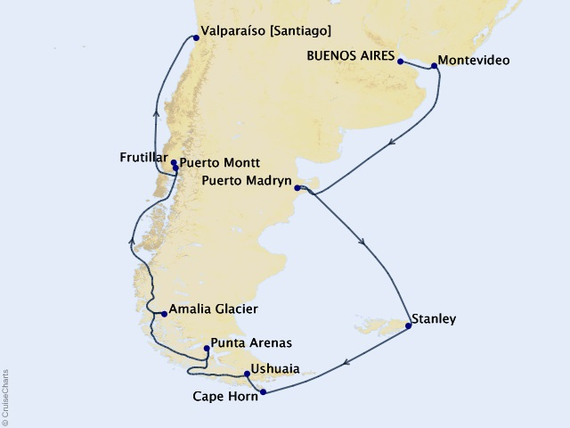 17-night South America and the Chilean Fjords Cruise