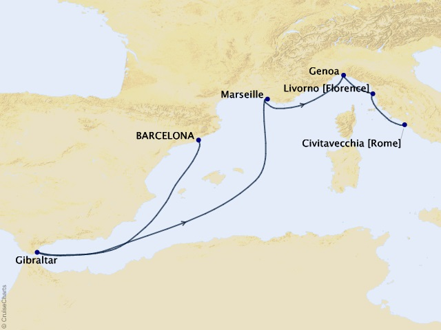 7-night Mediterranean Cruise