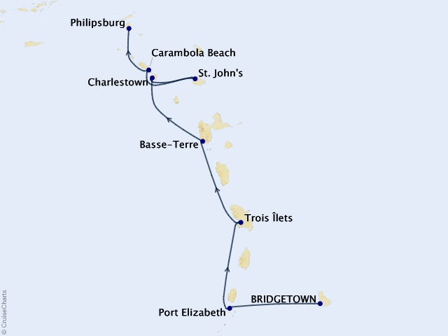 7-night Caribbean Yacht Harbors Cruise