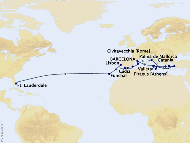 27-night Ancient Empires & Passage to America Cruise