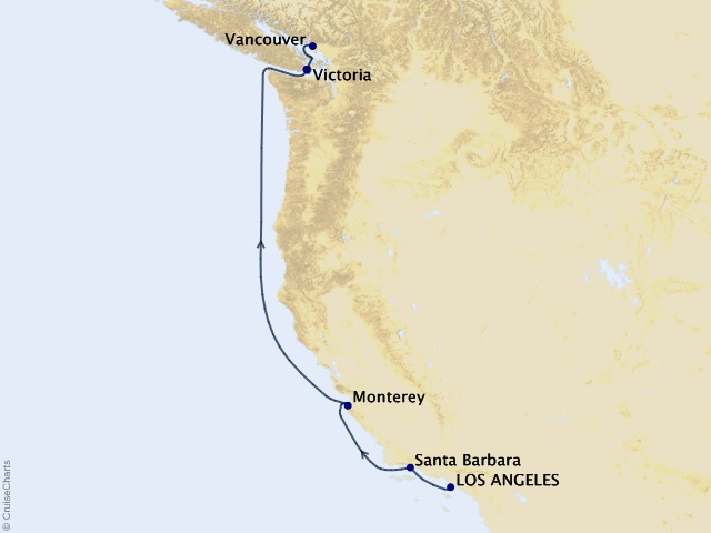 6-night The Gold Rush Route Cruise Map