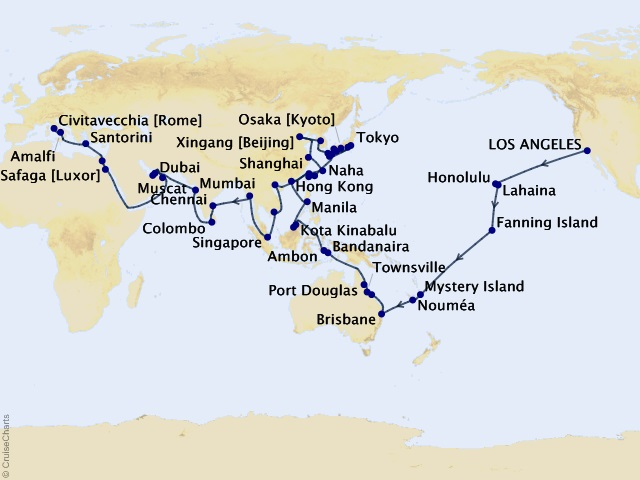110-night Ancient Dynasties & World Wonders - 2021 Full World Voyage