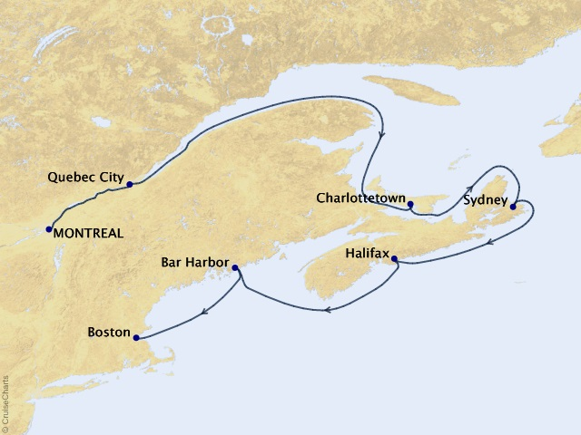 7-night Canada and New England Discovery Cruise