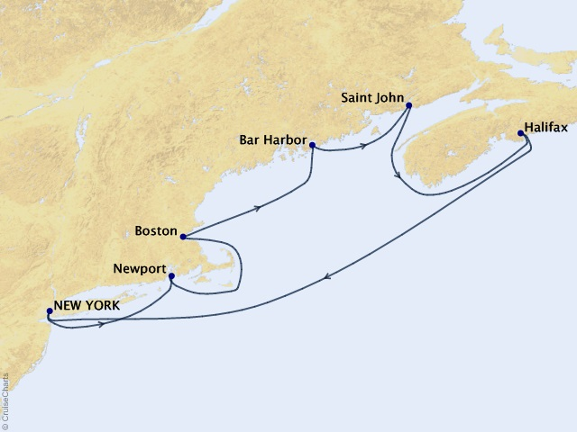 7-night Canada and New England Cruise