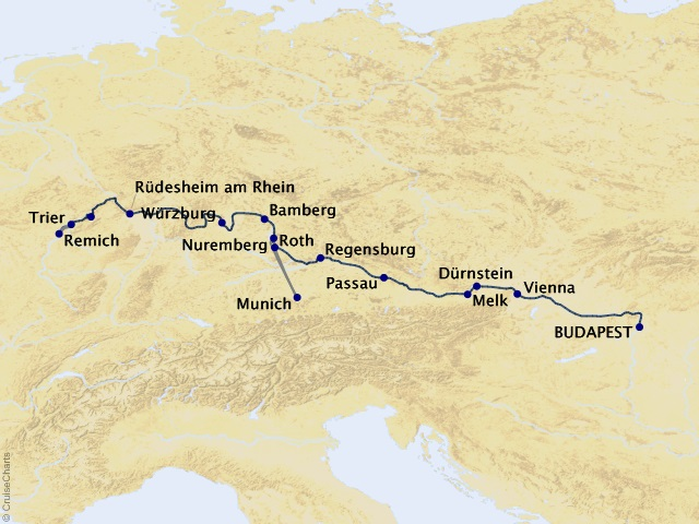 14-night Jewels of Central Europe Westbound Cruise